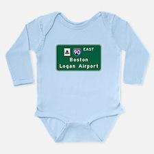 Cute Interstate 90 Long Sleeve Infant Bodysuit