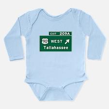 Unique Interstate 90 Long Sleeve Infant Bodysuit