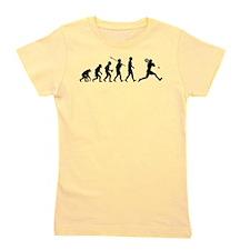 Funny Evolution man Girl's Tee