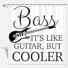 Cute Bass guitar Shower Curtain