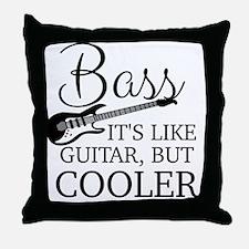Cute Bass Throw Pillow
