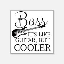 """Cute Bass Square Sticker 3"""" x 3"""""""