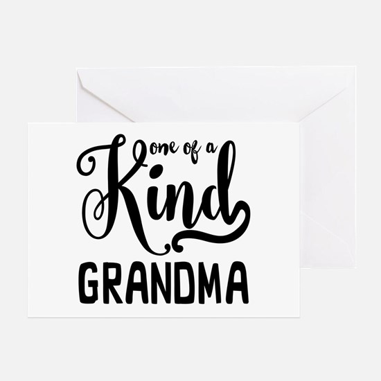One of a kind Grandma Greeting Card