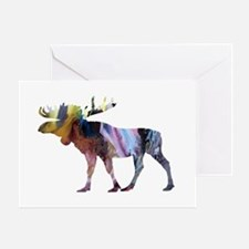 Funny Moose Greeting Card