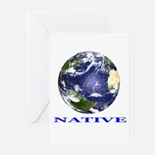 Cute Carbon footprint Greeting Cards (Pk of 20)