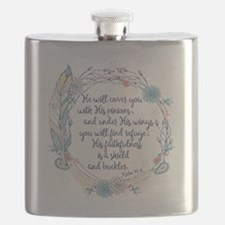 Under His Wings Flask