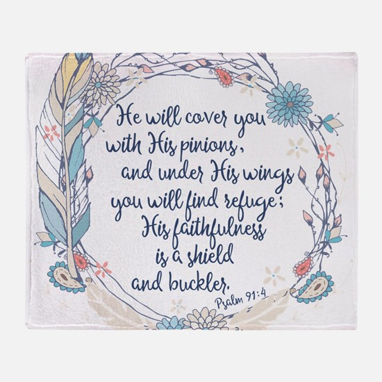 Under His Wings Throw Blanket