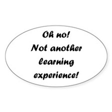 Learning experience Oval Decal