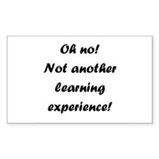 Learning experience Rectangle Stickers