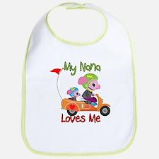 My Nana Loves Me Scooter Cotton Baby Bib