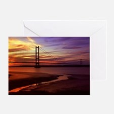 Cute Red sunrise Greeting Card
