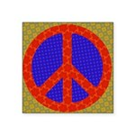 Bright Psychedelic Peace Sign Square Sticker
