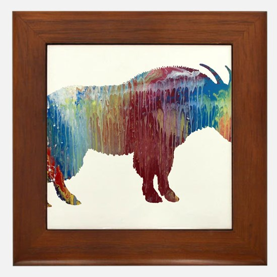 Mountain Goat Framed Tile