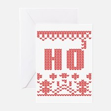 sweater knit christmas ho 3 Greeting Cards