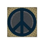 Patterned Peace Symbol Sticker