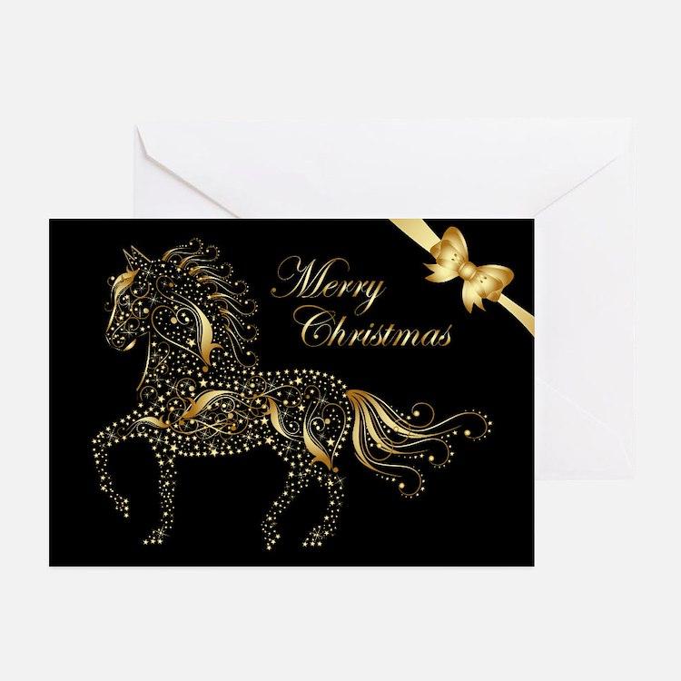 Sparkling Paso (20) Black Greeting Cards