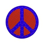 Glowing Peace Sign Button