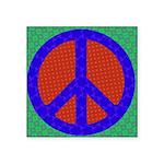 Glowing Peace Symbol Sticker