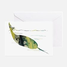 Unique Narwhal Greeting Card