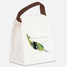 Funny Narwhal Canvas Lunch Bag