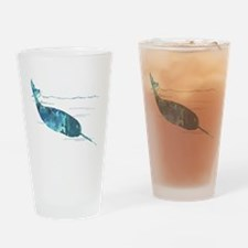Cute Narwhal Drinking Glass