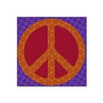 Funky Colors Peace Sign Sticker
