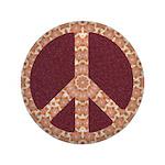 Big Folksy Peace Symbol Button