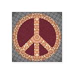 Folksy Peace Symbol Sticker