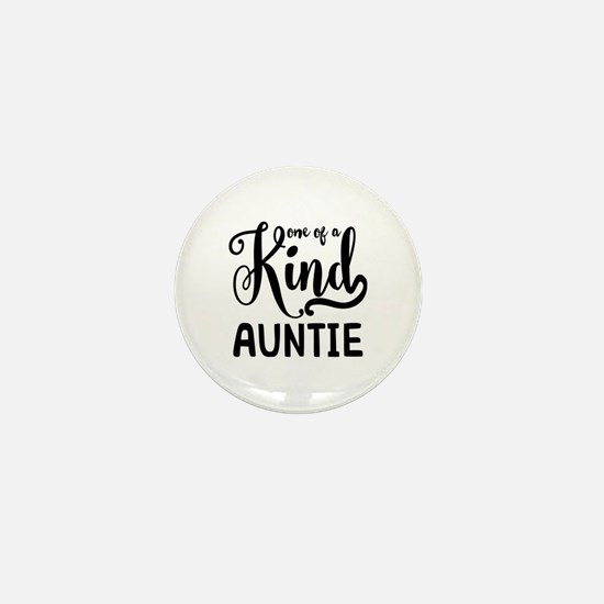 One of a kind Auntie Mini Button