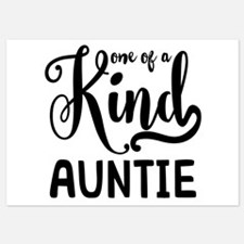 One of a kind Auntie Invitations