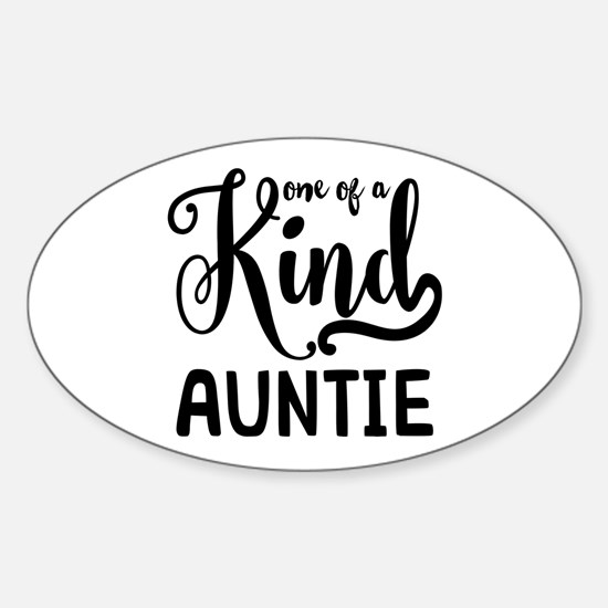 One of a kind Auntie Sticker (Oval)