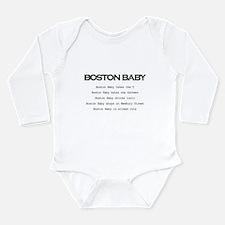 Unique Boston baby Long Sleeve Infant Bodysuit