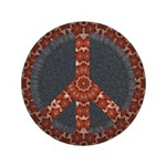 Big Patterns Of Peace Button