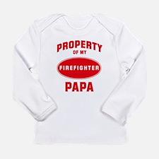Cute Firefighter family Long Sleeve Infant T-Shirt