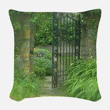 Garden Gate Woven Throw Pillow