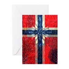 Cute Norway Greeting Cards (Pk of 10)