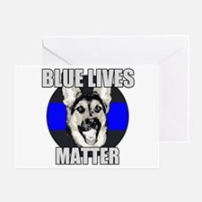 Blue Lives Matter Greeting Card