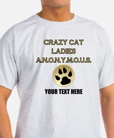Custom Crazy Cat Ladies T-Shirt