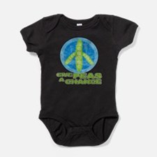 Funny Give peace chance Baby Bodysuit