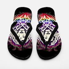 Lion Psychedelic Pop Art Flip Flops