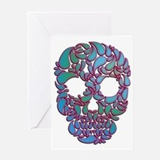 Funny Mexican sugar skulls Greeting Card