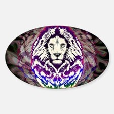 Lion Psychedelic Pop Art Decal