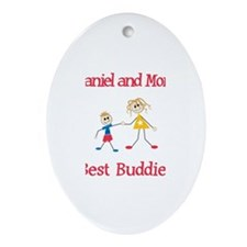 Nathaniel & Mommy - Buddies Oval Ornament
