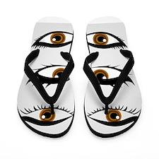 Unique Eyeball Flip Flops