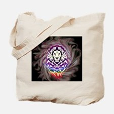 Lion Psychedelic Pop Art Tote Bag