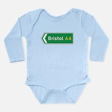 Bristol Roadmarker, UK Long Sleeve Infant Bodysuit