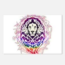 Lion Psychedelic Pop Art Postcards (Package of 8)