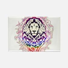 Lion Psychedelic Pop Art Magnets