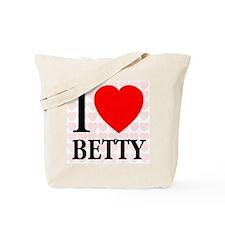 I Love Betty Tote Bag