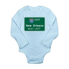 Unique Us cities Long Sleeve Infant Bodysuit